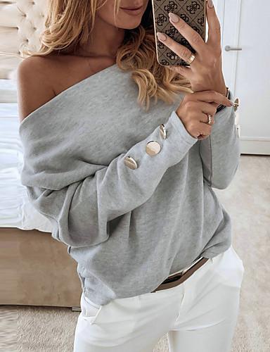 billige T-skjorter til damer-T-skjorte Dame - Ensfarget Hvit
