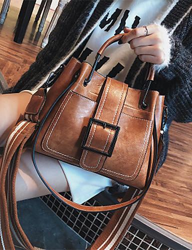 preiswerte Elegante Damen-Handtaschen-Damen Rindsleder Tasche mit oberem Griff Volltonfarbe Schwarz / Rosa / Braun