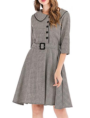levne Pracovní šaty-Dámské Pouzdro Šaty - Pepito Délka ke kolenům