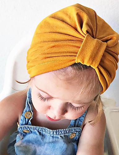 preiswerte Baby & Kinder-Neugeborene / Kleinkinder Unisex Solide Hüte & Kappen Gelb Einheitsgröße