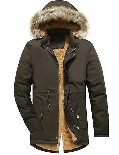 levne Pánské módní oblečení-Pánské Jednobarevné S vycpávkou, Polyester Černá / Armádní zelená / Khaki US32 / UK32 / EU40 / US34 / UK34 / EU42 / US36 / UK36 / EU44