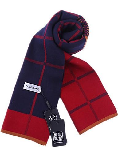 cheap Men's Scarves-Men's Basic Rectangle Scarf - Color Block