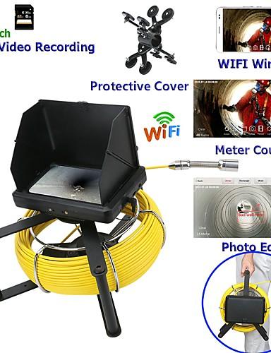 preiswerte HomeSweetHome-7 Zoll 23 mm Objektiv Endoskop HD 1080p Kanalrohr Inspektionskamera mit Meterzähler / DVR Videoaufzeichnung / Wifi Wireless / Keyboar Fotobearbeitung-10m / 20m / 30m / 40m / 50m