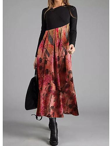 preiswerte Party & Anlässe-Damen Elegant A-Linie Kleid Geometrisch Asymmetrisch V-Ausschnitt