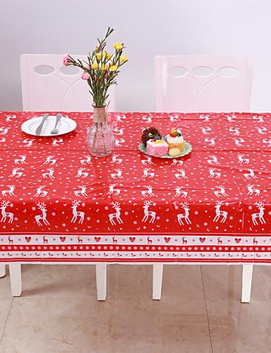 povoljno Božićni tekstil-jednokratni veseli božićni pravokutni tiskani pvc crtani stolnjak 120 * 180cm