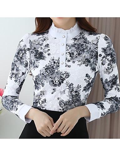 billige T-skjorter til damer-T-skjorte Dame - Ensfarget / Ruter Svart
