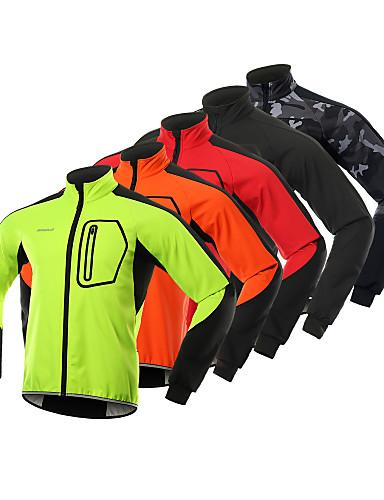 povoljno Odjeća za vožnju biciklom-BERGRISAR Muškarci Biciklistička jakna Bicikl Zima Flis jakne Reflektirajuće trake Sportski Runo Spandex Zima Crn / žuta / Zelen Brdski biciklizam Odjeća Obična Odjeća za vožnju biciklom