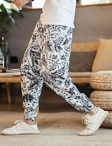 povoljno Vježbanje, fitness i joga-Muškarci Hlače za jogu Harem hlače 3D ispis Obala Bijela Crvena Plava Sive boje Plesne Fitness Trening u teretani ženske sportske hlače Sport Odjeća za rekreaciju Prozračnost Quick dry Puha Širok kroj