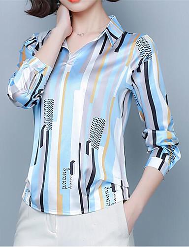 billige Dametopper-Skjorte Dame - Stripet Svart