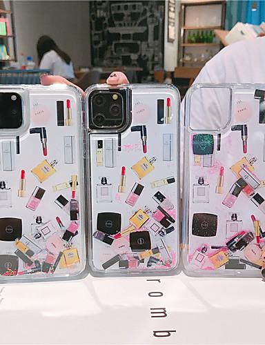 Case Kompatibilitás Apple iPhone 11 / iPhone 11 Pro / iPhone 11 Pro Max Folyékony / Minta / Csillogó Fekete tok Szexi lány TPU