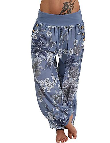 povoljno Vježbanje, fitness i joga-Žene Hlače za jogu Harem hlače Print Dusty Blue Obala Sky blue Vojska Green Crvena Plesne Fitness Trening u teretani ženske sportske hlače Veći konfekcijski brojevi Sport Odjeća za rekreaciju
