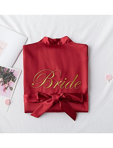 preiswerte Dessous-Normal POLY Morgenröcke Geschlechtsneutral Solide Hochzeit Sattelgurt Hochzeit