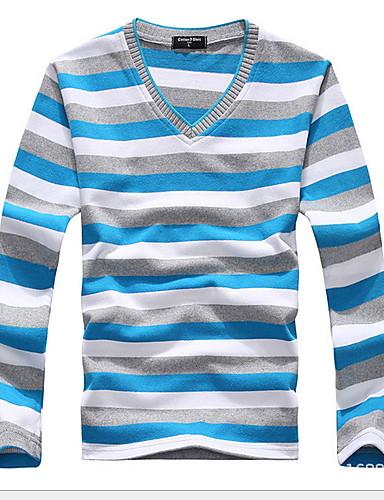 voordelige Heren T-shirts & tanktops-Heren T-shirt Gestreept Paars