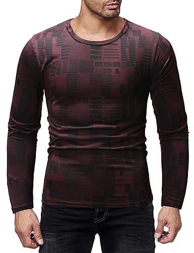 voordelige Heren T-shirts & tanktops-Heren Standaard Tuniek Grafisch Paars