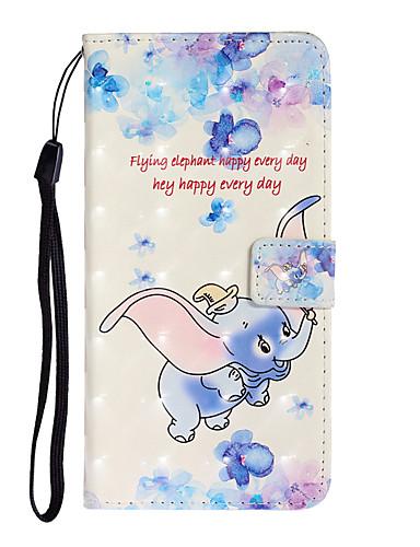 Case Kompatibilitás Huawei Huawei P20 / Huawei P20 Pro / Huawei P20 lite Kártyatartó Héjtok Rajzfilm PU bőr