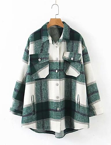 billige Dametopper-Skjorte Dame - Ruter Grønn