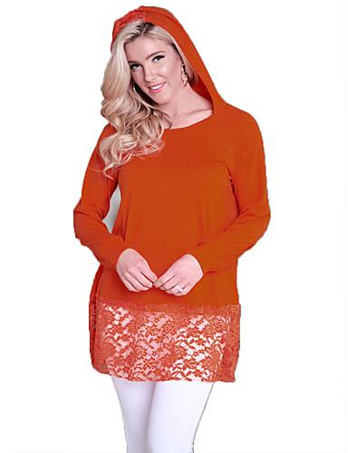 billige Bluser-tunika Dame - Ensfarget, Blonde Grunnleggende Svart
