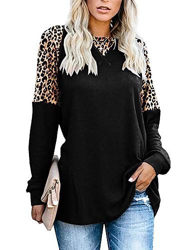 billige Skjorter til damer-tunika Dame - Leopard Elegant Svart