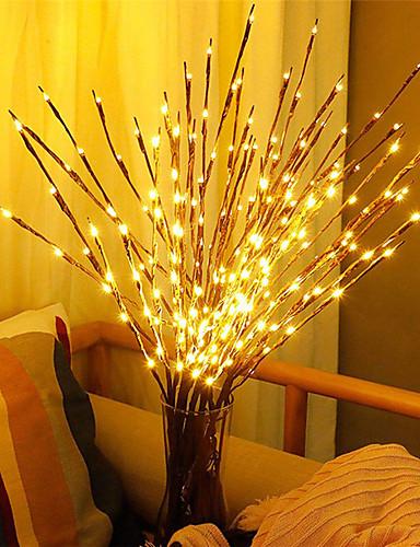 preiswerte LED-Lichter-1 stücke led weidenzweig lampe batteriebetriebene 20 lampen dekorative lichter hohe vase füllstoff weidenzweig beleuchtete zweig für hauptdekoration