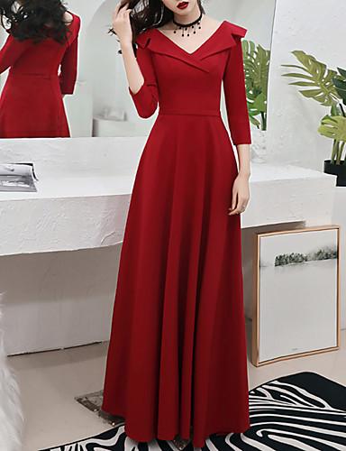 levne Maxi šaty-Dámské Elegantní A Line Šaty - Jednobarevné, Plisé Maxi