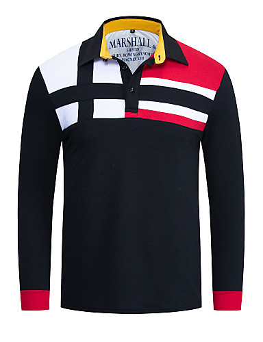 levne Pánská polo trika-Pánské - Jednobarevné Základní Polo Černá