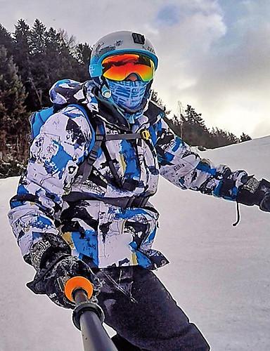 preiswerte Ski & Snowboards-MUTUSNOW Herrn Skijacken & Hosen Windundurchlässig Warm wasserdicht Skifahren Wandern Mehrere Sportarten Polyester 100% Baumwolle Sportkleidung Skikleidung / Winter