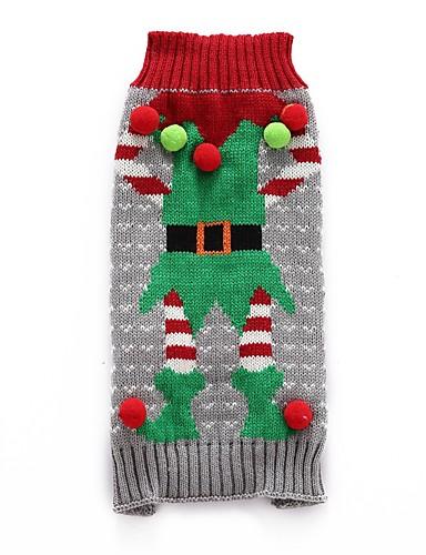 preiswerte Spielzeug & Hobby Artikel-Hunde Pullover Winter Hundekleidung Grau Kostüm Corgi Beagle Shiba Inu Acrylfasern Weihnachten Halloween Weihnachten XXS XS S M L XL