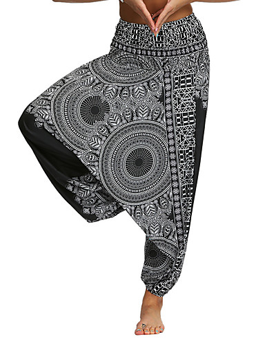 cheap Yoga Clothing-Women's High Waist Yoga Pants Harem Bloomers Breathable Quick Dry Dark Grey Black Gym Workout Dance Fitness Sports Activewear Loose