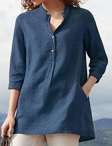 billige Skjorter til damer-Skjorte Dame - Ensfarget Rosa