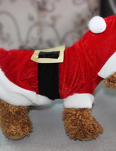 preiswerte Spielzeug & Hobby Artikel-Hunde Katzen Haustiere Kostüme Overall Winter Hundekleidung Rot Kostüm Polyester Weihnachten Weihnachten XXS XS S M L