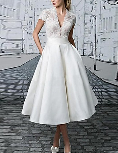 levne Maxi šaty-Dámské Základní Krajka Štíhlý A Line Šaty - Jednobarevné Maxi Do V