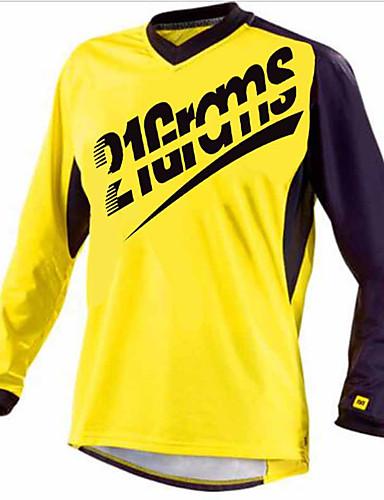 povoljno Biciklističke majice-21Grams Muškarci Dugih rukava Biciklistička majica Dirt Bike Jersey Red / White Crna / crvena Blue + Orange Bicikl Biciklistička majica Majice Brdski biciklizam biciklom na cesti UV otporan