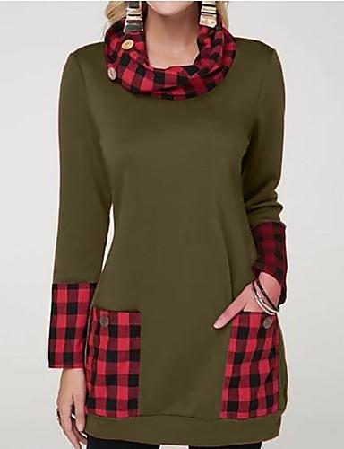 billige T-skjorter til damer-T-skjorte Dame - Fargeblokk Vin