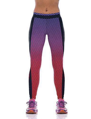 povoljno Odjeća za fitness, trčanje i jogu-Žene Visoki struk Hlače za jogu 3D ispis Elastan Fitness Trening u teretani Tajice Odjeća za rekreaciju Prozračnost Ovlaživanje Quick dry Butt Lift Visoka elastičnost Uske