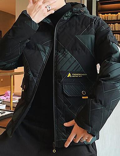 levne Pánské kabáty a parky-Pánské Barevné bloky / Písmeno S vycpávkou, POLY Žlutá / Trávová zelená US32 / UK32 / EU40 / US34 / UK34 / EU42 / US36 / UK36 / EU44