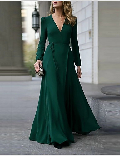 cheap New in Dresses-Women's A Line Dress - Solid Colored Army Green S M L XL