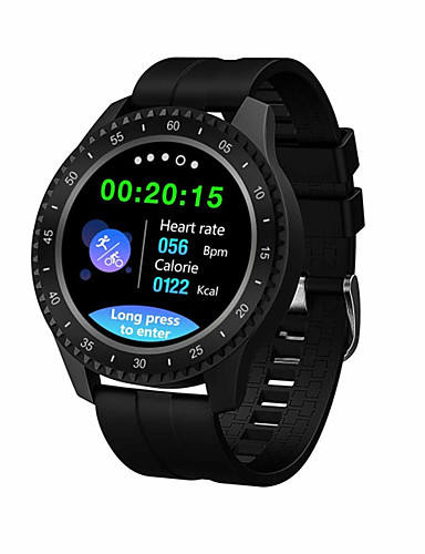 billige Smartklokker-f17 smartwatch bt fitness tracker support varsle / blodtrykksmåling sports smartklokke for samsung / iphone / android telefoner
