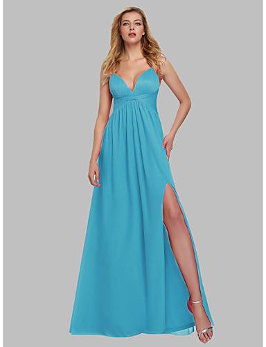 voordelige Maxi-jurken-Dames Elegant A-lijn Jurk - Effen Maxi