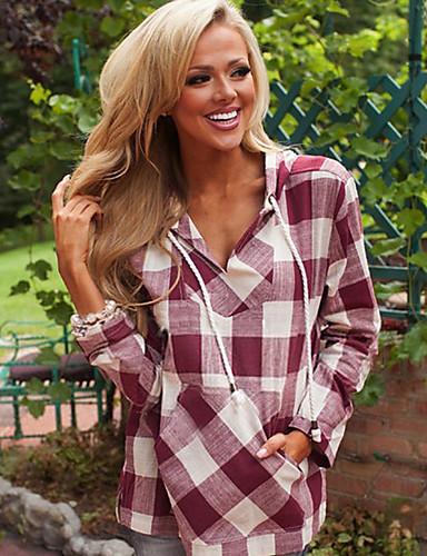 billige Dametopper-Skjorte Dame - Ruter Svart