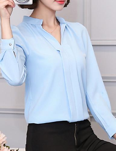 billige Dametopper-Skjorte Dame - Ensfarget, Nagle Forretning / Grunnleggende Svart