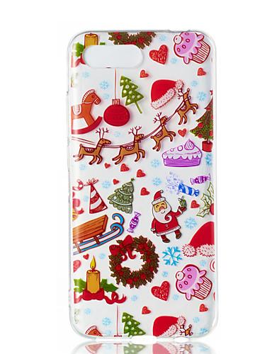Case Kompatibilitás Huawei Huawei Nova 3i / Huawei Honor 10 / Huawei Honor 9 Lite Átlátszó / Minta Fekete tok Karácsony TPU
