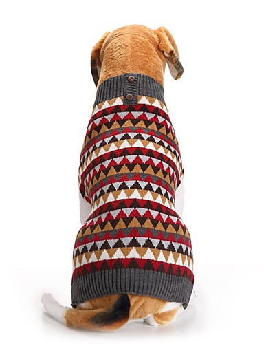 preiswerte Spielzeug & Hobby Artikel-Hunde Pullover Winter Hundekleidung Rot Kostüm Corgi Beagle Shiba Inu Acrylfasern Weihnachten Kariert Weihnachten XXS XS S M L XL