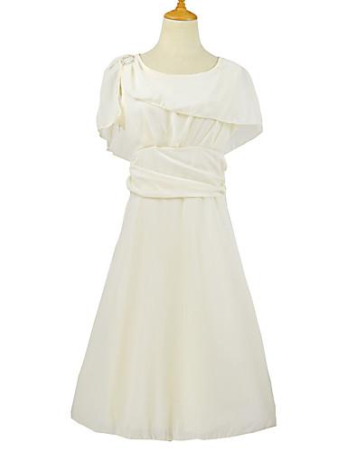 levne Šaty velkých velikostí-Dámské Základní Pouzdro Šaty - Jednobarevné Délka ke kolenům