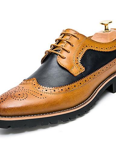 cheap 11.11 - Men's Oxfords Super Sale-Men's Comfort Shoes Microfiber Fall & Winter Oxfords Brown / Yellow
