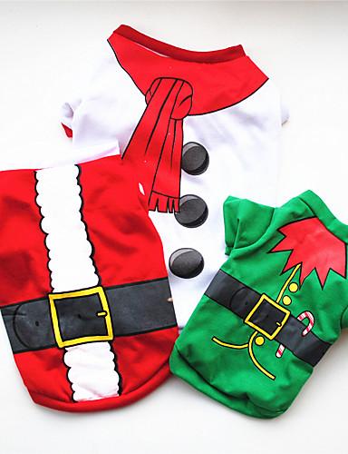 preiswerte Spielzeug & Hobby Artikel-Hunde Pullover Hundekleidung Weiß Grün Rot Kostüm Mops Pudel Chihuahua Baumwolle Cartoon Design Cosplay Weihnachten XS S M L