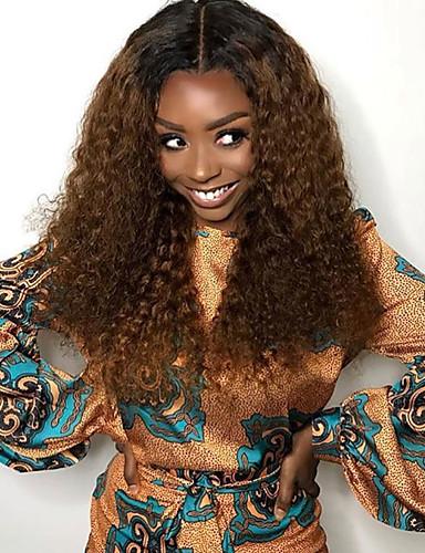 ราคาถูก Blonde Lace Wigs-ผม Remy 4x13 ปิด มีลูกไม้ด้านหน้า วิก ตอนกลาง ส่วนด้านข้าง ฟรี Part สไตล์ ผมบราซิล ความหงิก วิก 130% Hair Density ผู้หญิง คุณภาพที่ดีที่สุด ใหม่ มาใหม่ ลดกระหน่ำ สำหรับผู้หญิง ความยาวระดับกลาง