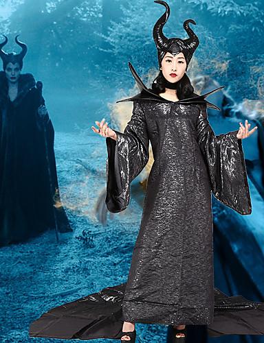 povoljno Maske i kostimi-Zao Haljine Žene Filmski Cosplay Cosplay Kostimirana zabava Crn Haljina Halloween Karneval Maškare Polyster
