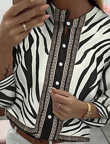 billige Skjorter til damer-Skjorte Dame - Fargeblokk Svart