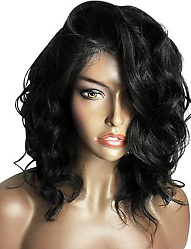 cheap Human Hair Wigs-New 9a Short Bob Human Hair Glueless Lace Front Wig with Baby Hair Brazilian Hair Wavy Wig 130% Density For Black Women Short / Medium Length Human Hair Lace Wig