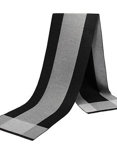billige Skjerf til herrer-Herre Grunnleggende Rektangulært skjerf Fargeblokk